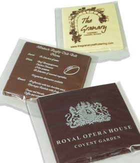 Promotional Chocolate Plaques